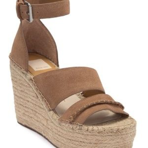 Dolce Vita Simi Suede Ankle Strap Wedge Platform
